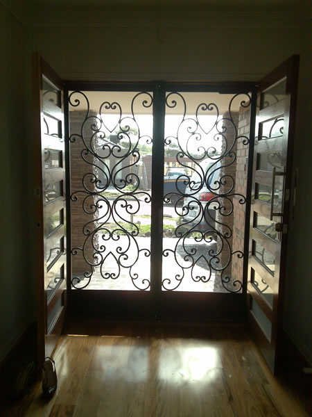 Wrought Iron Security Doors Melbourne Wrought Iron Doors